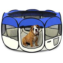 Yaheetech Pet Puppy Dog Playpen Exercise Pen Kennel 600d