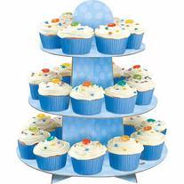 Blue Polka Dot Cupcake Stand