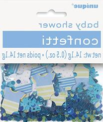 Blue Polka Dot Boy Baby Shower Confetti