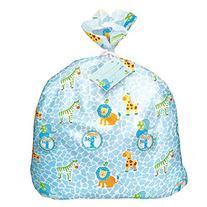 Jumbo Plastic Blue Safari First Birthday Gift Bag