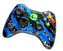 Blue Splatter 5000+ Modded Xbox 360 Controller
