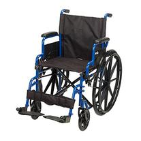 Drive Medical Blue Streak Wheelchair with Flip Back Desk
