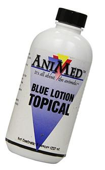 AniMed Blue Lotion Topical Antiseptic for Horses Dogs Cats