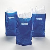"Discontinued 8.75"" x 12"" Blue Treat / Goody Bag"