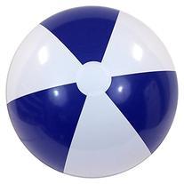 "36"" Blue & White P7 Beach Balls"