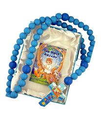 Blue Wooden Prayer Bead My First Rosary with Noah's Ark