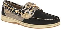 Sperry Top-Sider Women's Bluefish Shimmer Boat Shoe, Black,