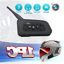 LEXIN 1PC Bluetooth Motorcycle Helmet headset kit up to 6