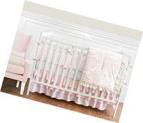 Sweet Jojo Designs 9-Piece Blush Pink White Damask and Gold