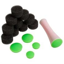 BMC 15pc Round Rubber Stamper Extra Heads Sponges Nail Art