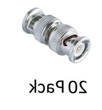 20 Pack BNC Male to Male Coupler Adapter Connector For CCTV