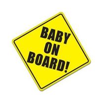 "BABY ON BOARD baby safety sign car sticker 5"" x 5"