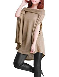 Allegra K Ladies Boat Neck Short Dolman Sleeve Cape Style