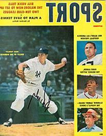 Bob Turley Autographed / Signed Sport Magazine October 1958