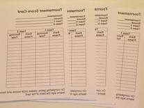 Bocce Score sheets for tournaments