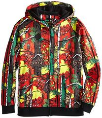 Burton Boys Bonded Full-Zip Hoodie, X-Large, Stash Print