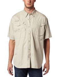 Columbia Men's Bonehead Short Sleeve Shirt, Fossil, Large