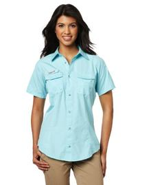 Columbia Women's Bonehead Short Sleeve Shirt, X-Large, Clear