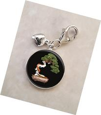 Bonsai Tree Japanese Nature .925 Sterling Silver Charm