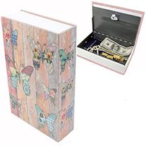EIOU 9.5 x 6.3 x 2.3 inches & 1.4 pounds Book Safe with Key