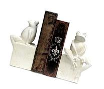 Bookends - Fanciful Frog Book Ends - Thinker Frog Bookend -