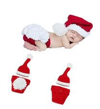 Yonger New Born Baby Christmas Hat and Underwear Two Piece