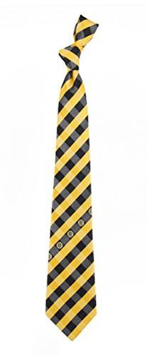 Boston Bruins Check Polyester Neck Tie NHL Hockey Team Logo