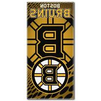 NHL Boston Bruins Emblem Beach Towel, 28 x 58-Inch