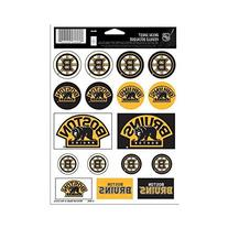 "NHL Boston Bruins Vinyl Sticker Sheet, 5"" x 7"