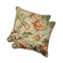 Pillow Perfect Outdoor Botanical Glow Tiger Stripe Throw