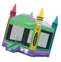 Bounce House Inflatable Crayon Castle Moonwalk Includes 1 Hp