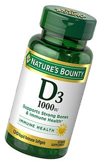 Nature's BountyVitamin D3 1000 100 mg, 120 Softgels