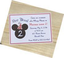 Set of 10 Boy or Girl Birthday Party Invitations Mickey