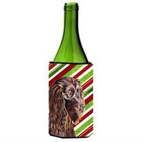 Boykin Spaniel Candy Cane Christmas Wine Bottle Beverage