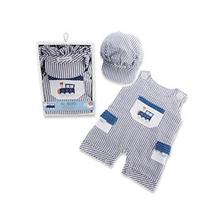 Baby Aspen Boys All Aboard! Romper and Hat Set