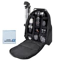 eCost BKP457 Deluxe Camera/Video Padded Backpack for SLR /