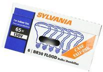 Sylvania BR30 65-Watt Flood Light Bulbs, Soft White, 24 Pack