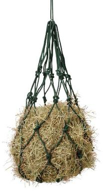 Tough 1 Solid Braided Cotton Hay Bag, Black