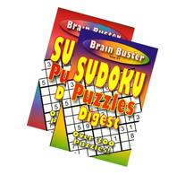 Brain Teasing Sudoku Puzzle Book Digest Size  Case Pack 48
