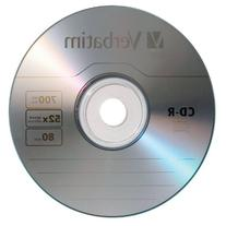 Verbatim CD-R 700MB 80 Minute 52x Recordable Disc - 10 Pack