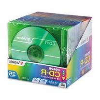 Verbatim 700MB 52x 80 Minute Color Branded Recordable Disc
