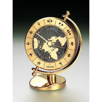 Seiko Brass Desk and Table World Time Bezel Clock