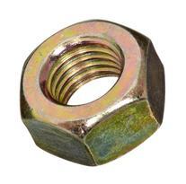 Brass Hex Nut, Plain Finish, DIN 934, Metric, M2.5-0.45