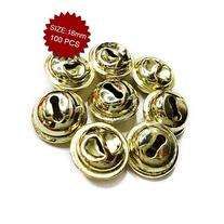Aspire Brassy Jingle Bells for Crafted Projects, 18mm,