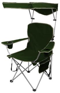 Quik Shade Adjustable Canopy Folding Camp Chair - Forest
