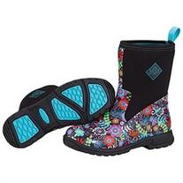 Muck Boots Ladies Breezy Mid Prints - Black Floral