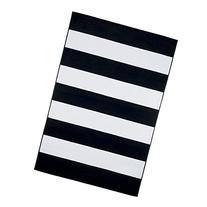 "Lavish Home Breton Stripe Area Rug, 5' by 7'7"", Black/White"