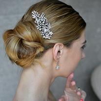 EVER FAITH® Cream Simulated Pearl Austrian Crystal Bridal