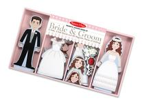 Melissa & Doug Bride And Groom Magnetic Dress-Up