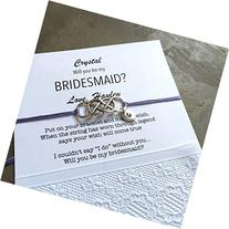 Bridesmaid proposal with hand stamped initial, Will you be